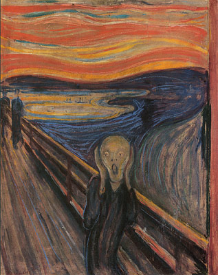 'The Scream'  by Norweigen artistEdvard Munch